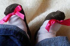 DIY Painted Shoe Socks... Trumpette Knock Off!