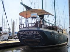 51 foot ketch The Wanderer, boat featured in the movie Captain Ron.