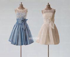 lace bridesmaid dress lace prom dress short bridesmaid by okbridal, $129.00