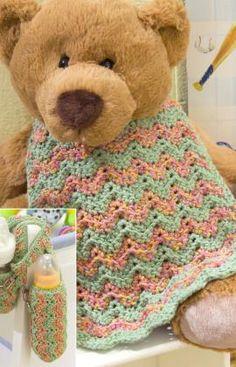 bib pattern, crochet babi, crochet projects, babi bottl, babi bib, bottl cozi, baby bibs, crochet patterns, baby bottles