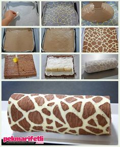 Zebra desenli rulo pasta yapımı