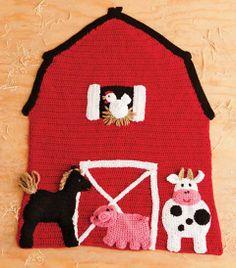 Red Barn Blanket | crochet today