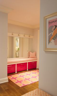 Madeline Weinrib Pink & Orange Westley Cotton Carpet via Julie Nightingale Design
