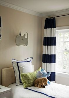 Blue and White Bedding on Pinterest