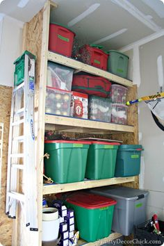 #Christmas decor #organization in the garage