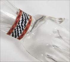 Beaded Zebra Stripes Bracelet Pattern by Rita Sova at Sova-Enterprises.com