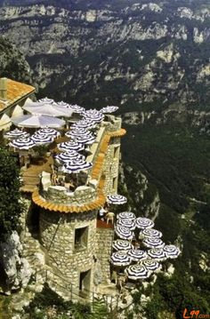 Cliffside Cafe Gourdon, France | Read More Info