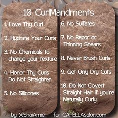 The 10 Curl-Mandments by Shai Amiel www.CAPELLAsalon.com