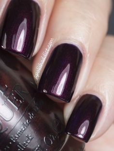 From the fall 2012 Germany collection - another look at Every Month Is Oktoberfest actually has an inky purple base, loaded with reddish brown shimmer, resulting in a burgundy shade.