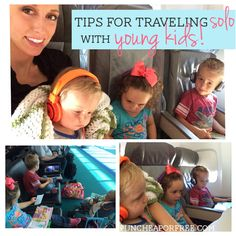 Awesome tips for traveling [SOLO!] with young kids! from FunCheapOrFree.com #travel #kids
