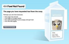 """Fowl Not Found. http://hootsuite.com/404 """"you like 404 pages"""" hahaha"""