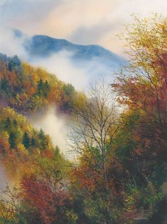Great Smoky Mountains National Park, TN-beautifully depicted by a talented local artist