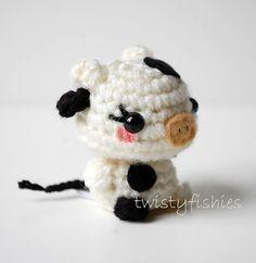 Baby Cow Mini Amigurumi #crochet