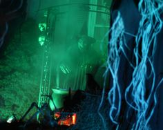 www.hauntedeve.com    A family's halloween house decorating blog.   Exterior halloween decorations, props, fog machines, special lighting effects, and plenty of glowing jack-o'-lanterns.  Every year, they decorate according to a specific decorating theme & each year's theme is different.  LOTS & LOTS of pictures featuring each of their annual displays. All are very spooky.  There are tons of decorating ideas. This family really goes all out!!!