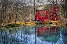 Reflections of An Old Red Mill