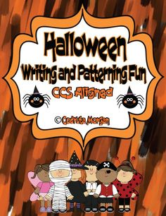 Halloween Writing and Patterning Fun! CCS Aligned This product is a great addition to your Halloween stations / workshop. It can be used as Morning Work or part of the Literacy/ Math centers. Students work on: improving vocabulary, use their schemata when describing Halloween related pictures, patterning, improving reading and writing skills. #Halloween #reading #writing #literacy #math