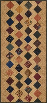 Zigzag Table Runner and tutorial - Kansas Troubles Quilters