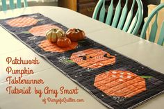 Riley Blake Designs Blog: Project Design Team Wednesday~Patchwork Pumpkin Table Runner
