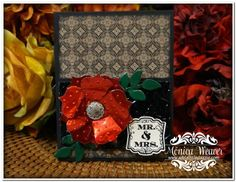 This stunning card was made for the World Card Making Day celebration at StampNation by Monica from Add a Little Dazzle.  I can't WAIT until she shows us how it's done!  http://www.addalittledazzle.com?affiliates=10#sthash.OKIo8mOo.dpuf  #stampnation #metalsheets