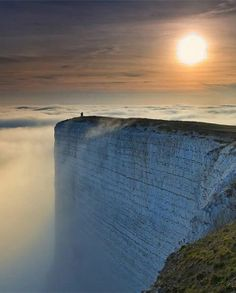 dear white cliffs of dover, someday i will reside near you. i'll take peaceful walks on you and sing things like 'wish me luck as you wave me goodbye...'  Edge of the World - White Cliffs of Dover
