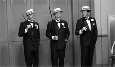 """You've either got or you haven't got styyyyllllle!"" Frank Sinatra, Bing Crosby, and Dean Martin in Robin and the 7 Hoods."