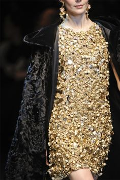 ornate, luxe, gold and black glam
