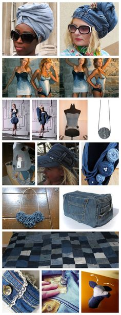 The Upcycled Denim Challenge - seriously cool. Think I need to start doing more with my old denim!