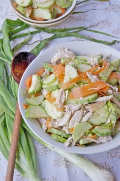 Thai Chicken Cucmber Salad by bethmichelle #Salad #Thai #Chicken #bethmichelle