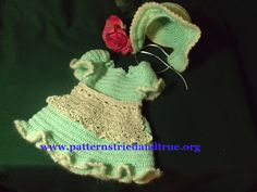 Doll Prarie Dress, Bonnet, Apron and Booties