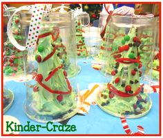 clear plastic cups and lids to display and transport frosted Christmas trees.