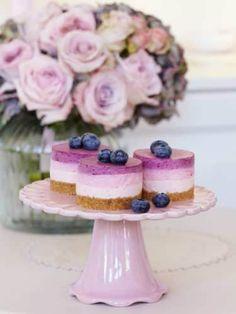 blueberry mini cheescake