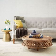 Martini Side Table - Antique Brass   West Elm
