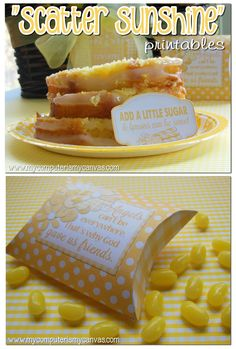 """Scatter Sunshine Printables... """"When you add a little sugar, lemons can be sweet!"""""""