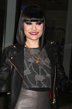 Jessie J Medium Straight Cut with Bangs