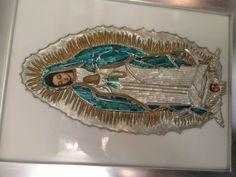 Virgen de Guadalupe hecha en repujado por Maricarmen Ontañon