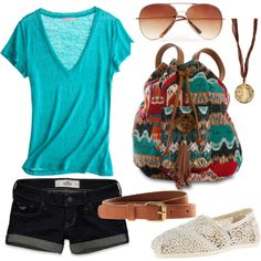 summer styles, summer looks, casual summer, bag, summer outfits, backpack, shoe, summer clothes, school outfits
