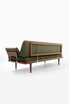 Peter Hvidt & Orla Mølgaard Nielsen; Teak 'Minerva' Sofa for France & Son, 1950s.