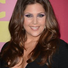 Hillary Scott of Lady Antebellum. Red Carpet of 2012 CMT Awards.  Go Purple!!