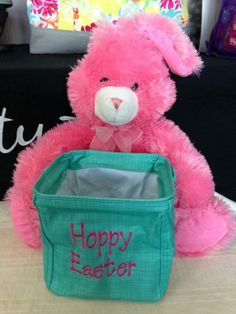 "Cute idea for Easter! A Thirty-One Littles Carry-All Caddy with ""Hoppy Easter"" on it!"
