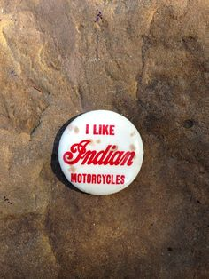 Vintage Indian Motorcycle Pin by 4DogCafe on Etsy, $20.00
