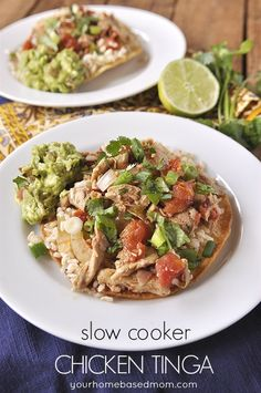 Slow Cooker Chicken Tinga | YourHomebasedMom.com