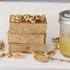 Honey Walnut Milk Soap This recipe makes an incredible moisturizing soap that smells almost delicious enough to eat!