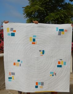 quilt concentr, concentr circl, water drops, pass shower, quilting tutorials, shower quilt, poppi, machine quilting, circle quilts