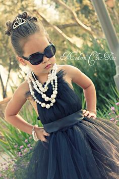 Audrey Hepburn Inspired Tutu Dress (Modern Chic Tots)