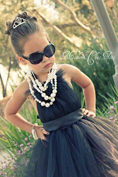 Audrey Hepburn Inspired Tutu Dress (Modern Chic Tots)