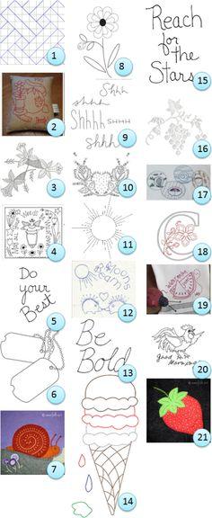 Free embroidery patterns · Needlework News | CraftGossip.com