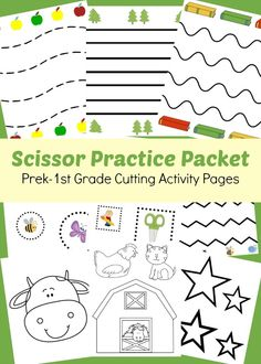 Age appropriate cutting activities for your Prek-1st Grader in this Scissor Practice Packet! | www.GoldenReflectionsBlog.com  - repinned by @PediaStaff – Please Visit  ht.ly/63sNt for all our ped therapy, school & special ed pins