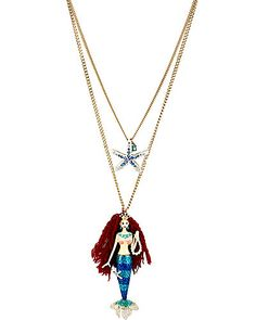 Hear the siren song of the sea with Betsey Johnson's double-row necklace.