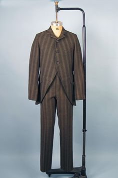 1880s Man's Wool Day Suit, NY Tailor via Whitaker Auction Compan.