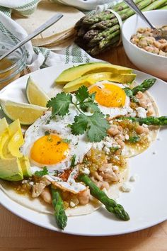 asparagus huevos rancheros.